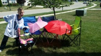 Day camping in the front yard