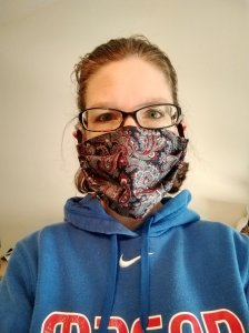 My pretty paisley mask